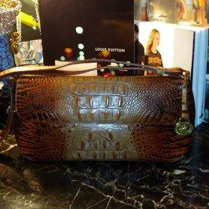 BRAHMIN croc embossed leather handbag